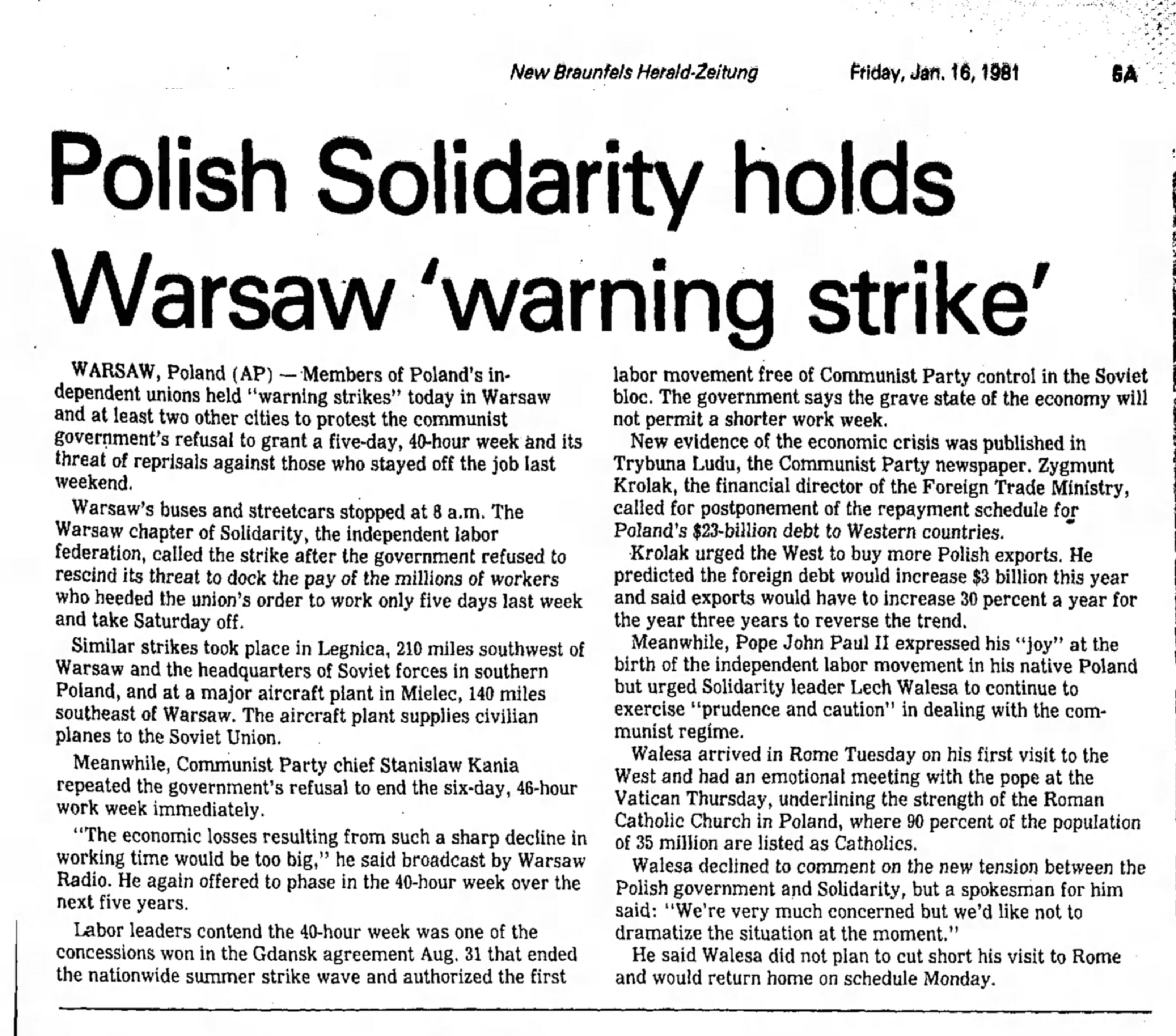 the catholic church and solidarity in poland